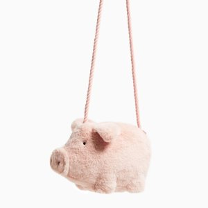 $22.9FAUX FUR LITTLE PIG BAG
