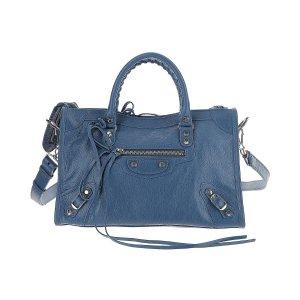 BalenciagaCity line Denim Blue Leather Shoulder Bag