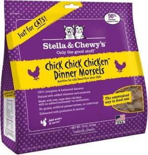 Stella & Chewy's Chick Chick Chicken Dinner Morsels Freeze-Dried Raw Cat Food 18oz
