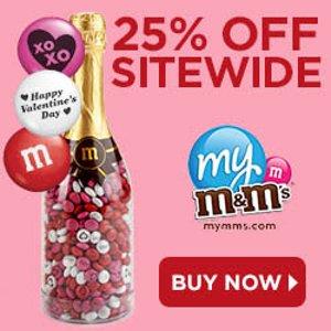 全场都打折, 买啥都便宜M&M's 情人节好礼狂欢, 全场75折