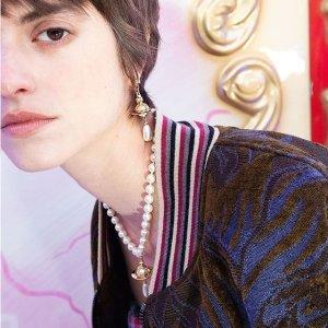 满减$25 土星珍珠耳钉$150Vivienne Westwood 土星配饰特卖 英伦朋克风