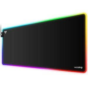 $16.75VicTsing 超大尺寸RGB 布艺游戏鼠标垫 12种灯光模式