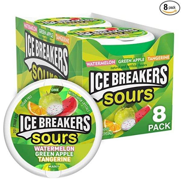 无糖薄荷糖 酸甜果味 8盒