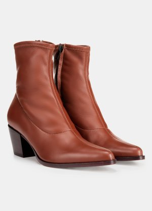Hayek Leather Ankle Boot for Women   Vince
