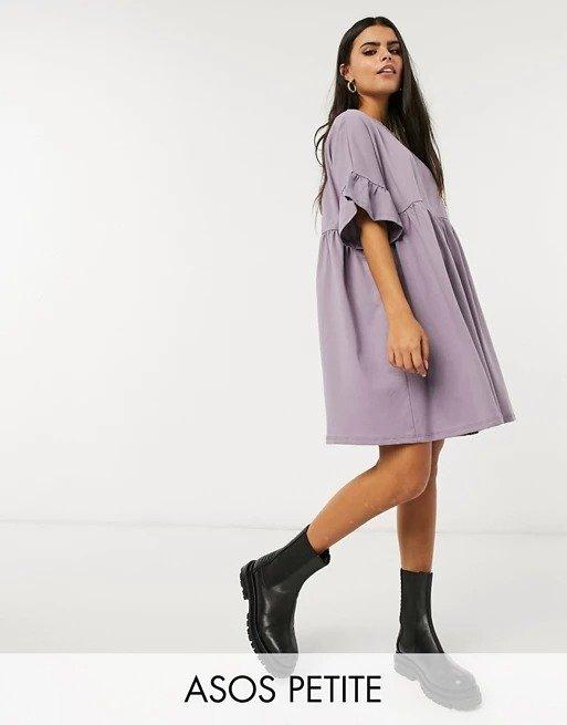 ASOS DESIGN 紫色娃娃裙