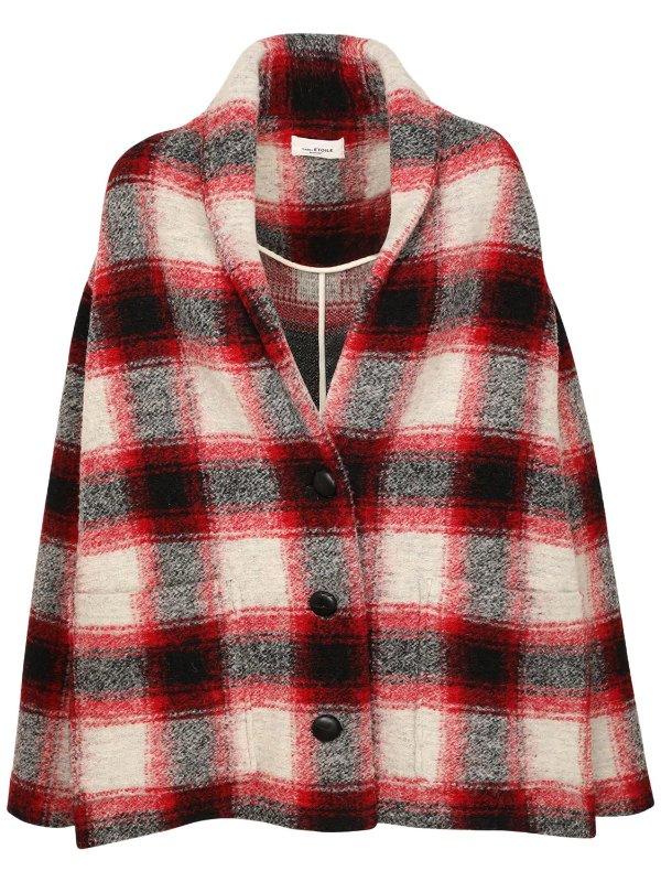 红格短款外套