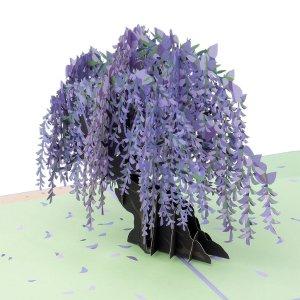 3D贺卡 紫藤萝花树