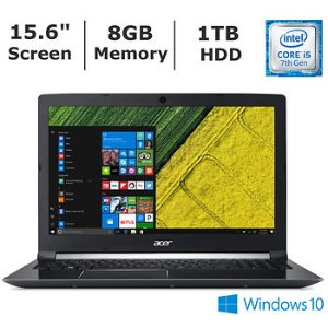 Acer Aspire 7 Laptop (i5-7300HQ, GTX1050, 8GB, 1TB)