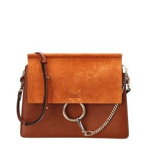 ChloeFaye Suede & Leather Shoulder Bag | Bluefly.Com