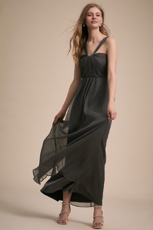 Porto Dress Charcoal  in  Bridesmaids & Bridal Party | BHLDN