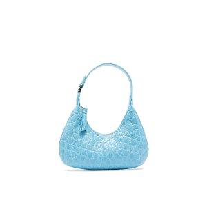 by FARSale BY FAR Mina crocodile effect mini bag blue   MODES