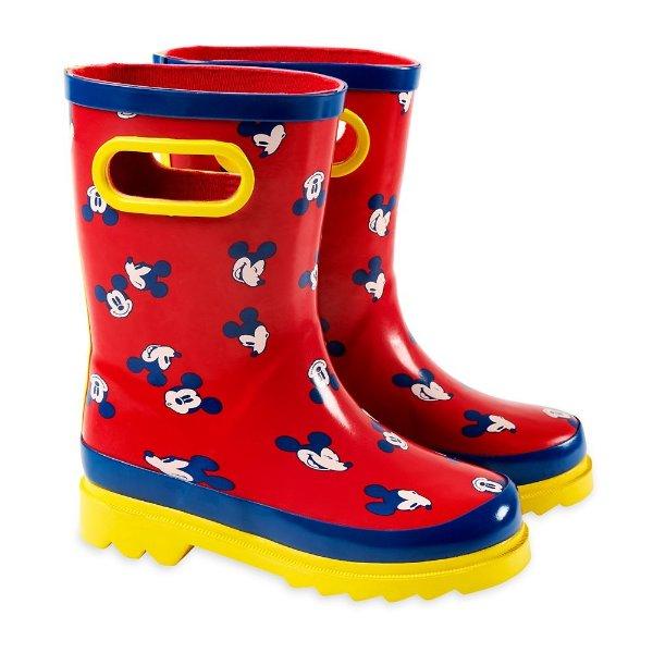 米奇图案 雨鞋
