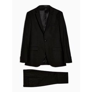 Topman纯黑超酷西装
