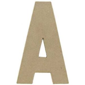 """Paper Mache Letter A - 8 1/4"""" 