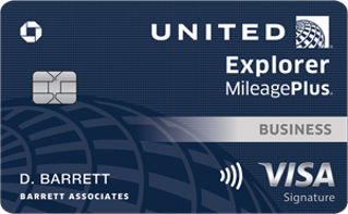 Earn up to 100,000 milesUnitedSMExplorer Business Card