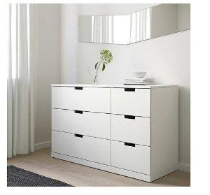 NORDLI 6-drawer dresser - white  - IKEA