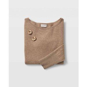 Club Monaco羊绒毛衣、耳环套装