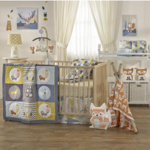$69.97包邮(原价$99.95)LOLLI LIVING 宝宝衍缝盖被 可可爱爱森系风 柔柔软软