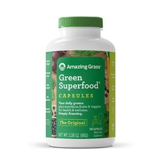 Amazing Grass Green Superfood Capsules with Wheat Grass and Greens, Original, 150 Capsules