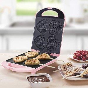 €18.99起 轻松实现在家烘焙Bestron 爱心华夫饼机、甜甜圈机热卖 小巧可爱使用方便