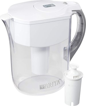 Brita Large 10 Cup Grand Water Pitcher with Filter - BPA Free