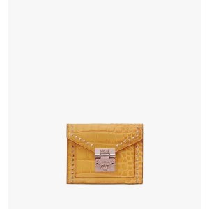 MCMPatricia Three-Fold Wallet in Embossed Crocodile