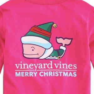 低至6.8折+额外5折 T恤降至$12.99起最后一天:Vineyard Vines 儿童特价区服饰折上折 T恤多款选