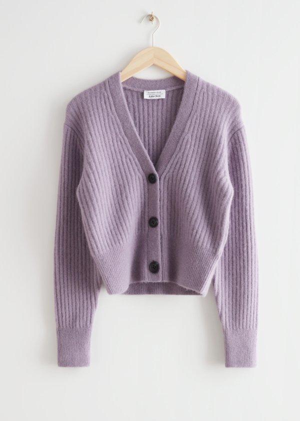 香芋紫开衫