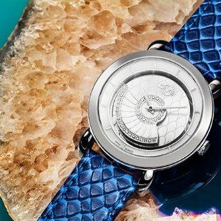 $249.99+包邮无税独家:GV2 BY GEVRIL 镶钻珍珠母贝腕表套装 两色款