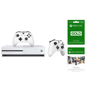$199.99Xbox One S 500GB Bundle+Extra Controller+3 Months Xbox Live+3 Months Game Pass