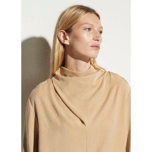 VinceCowl Neck Long Sleeve Blouse