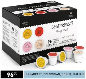 现价$20.69(原价$34.49)Bestpresso K-Cup 胶囊咖啡 96颗热卖