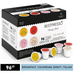 $20.69Bestpresso coffee K-cup Variety Pack 96 Count