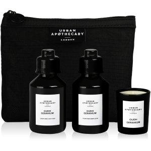无门槛75折 只需€21还加一个化妆包Urban Apothecary 身体护肤套组 护手霜+洗手液+香氛蜡烛