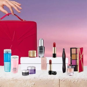 Lancome变相3.2折!共11件热门产品+4小样2021圣诞限量版美妆盒