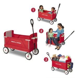 低至5.9折 封面款史低价史低价:Radio Flyer 经典款两童小拖车、三轮儿童踏板车等特卖