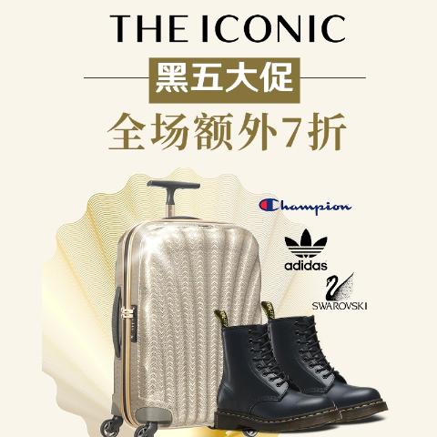 4折起+叠7折 Kangol $49黑五好价:THE ICONIC 大促 Champion/马丁靴/Foreo/新秀丽