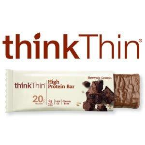 $9.56thinkThin 高蛋白花生酱能量棒 2.1 oz 10条