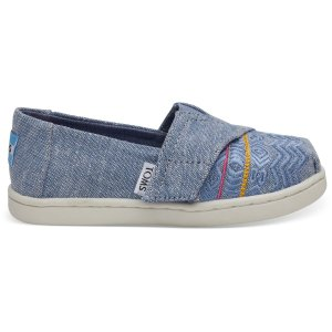 607eda074a8 TomsUp to  20 OffBlue Global Embroidery Chambray Tiny TOMS Classics