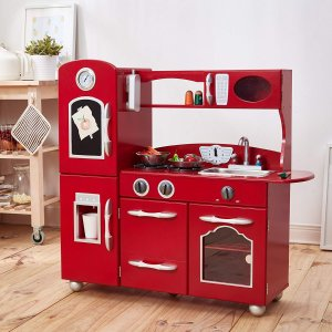 My Little Chef Teamson Kids Wooden Play Kitchen Set 1 Piece Red One Size Dealmoon