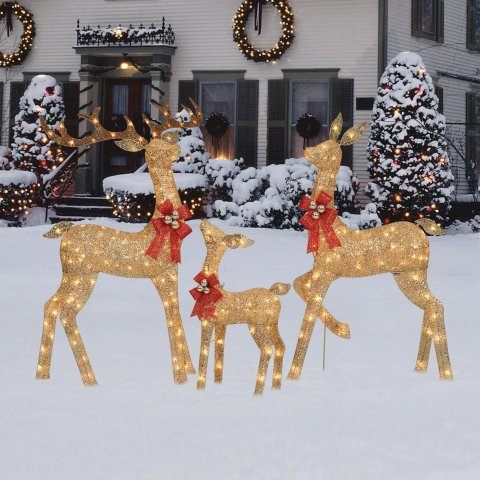 金色小鹿装饰灯