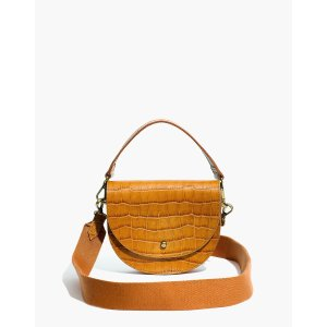 MadewellThe Small Richmond Saddle Bag: Croc Embossed Leather Edition