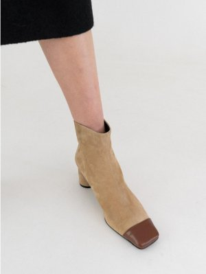 DOUGH Square Boots Beige │Curated Collections of Global Independent Designers