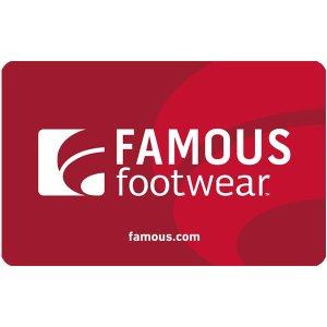 Famous Footwear 礼品卡