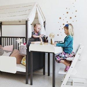 封面套装8折+无税 现$271.2Stokke 2019 Tripp Trapp 儿童成长椅,含椅垫、托盘、baby set