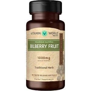 VITAMIN WORLDBilberry 1000mg