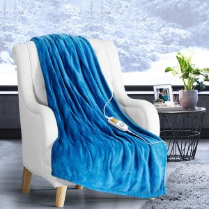 iTeknic Heated Blanket Electric Throw, 60