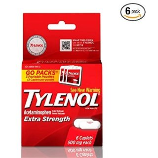 $1.59Tylenol Extra Strength Caplets, Fever Reducer and Pain Reliever, 500 mg, 6 ct.