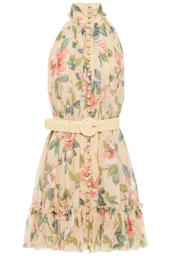 Kirra belted floral-print 印花连衣裙