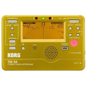 Korg TM-50 Combo Instrument Tuner and Metronome (Gold)